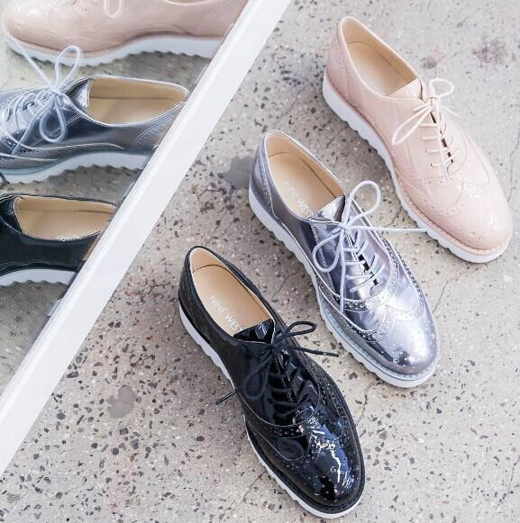WHENEVER LACE-UP OXFORDS @ Nine West