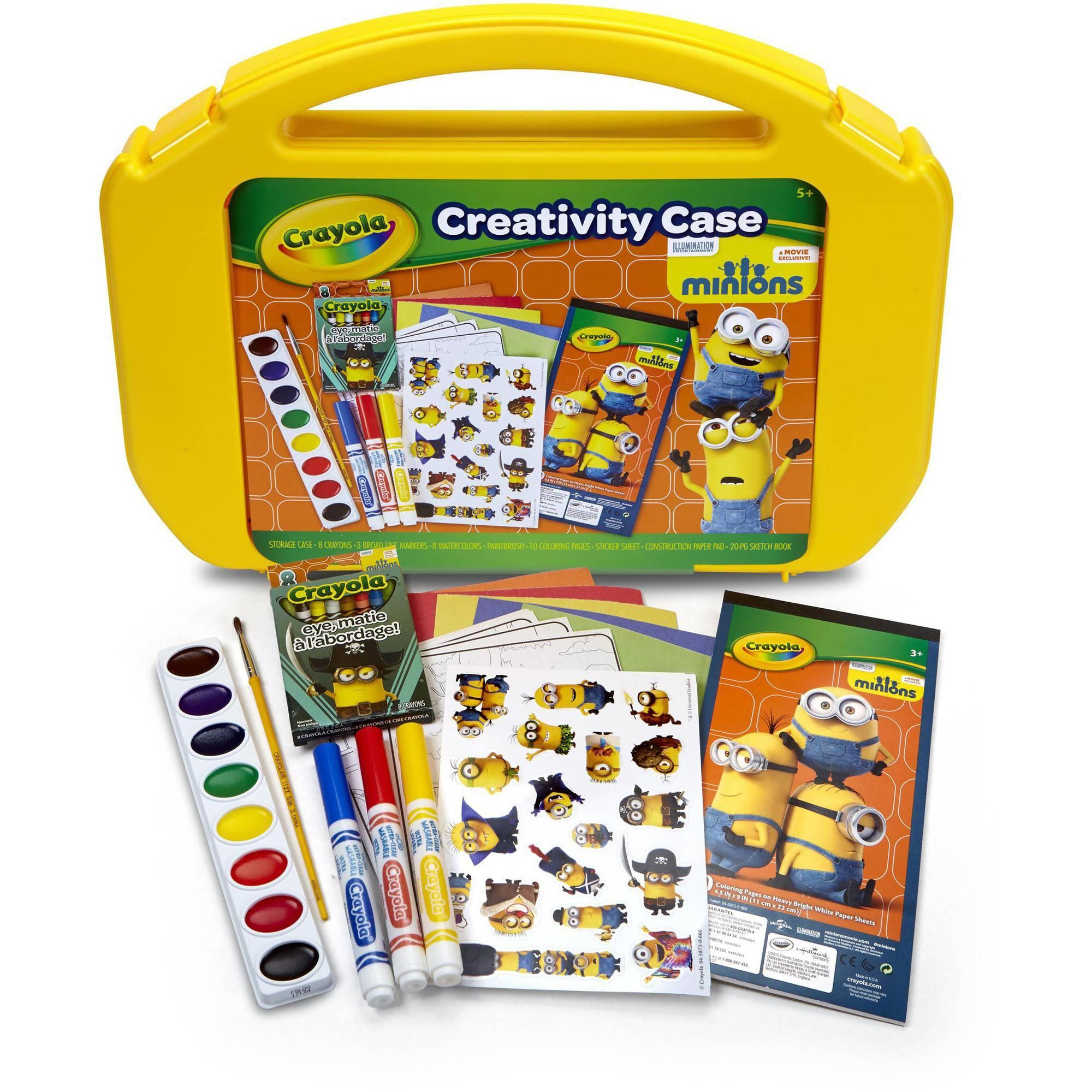 $5 Ultimate Art Case with Markers, Paint, Crayons, Coloring Pages and Stickers