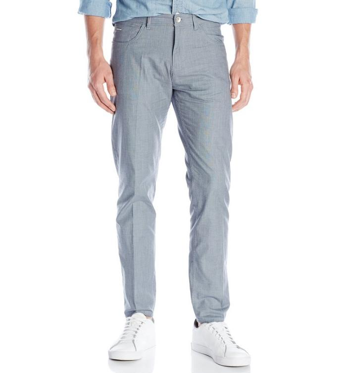 $23.99 Calvin Klein Men's Slim Fit Refined Twill Bowery Pant