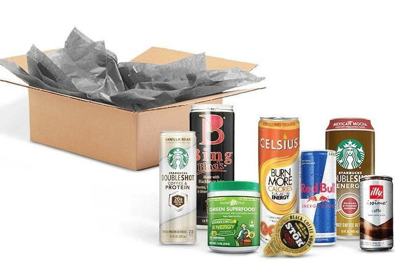 $7.99 credit with purchase Energy Drink Sample Box, 7 or more samples