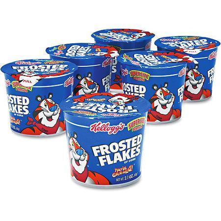 $4.97 Kellogg's Frosted Flakes Cereal In A Cup, 2.1-Ounce (Pack of 12)