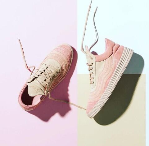 FILLING PIECES Mountain Cut rose wavy suede trainers @ Harvey Nichols & Co Ltd