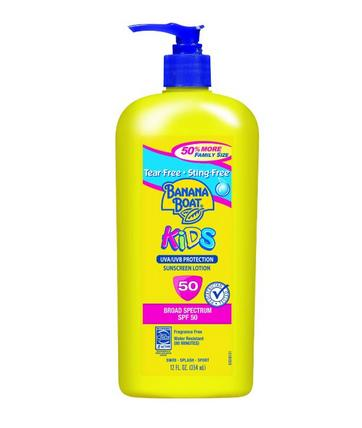 $8.44 Banana Boat Sunscreen Kids Family Size Broad Spectrum Sun Care Sunscreen Lotion - SPF 50, 12 Ounce