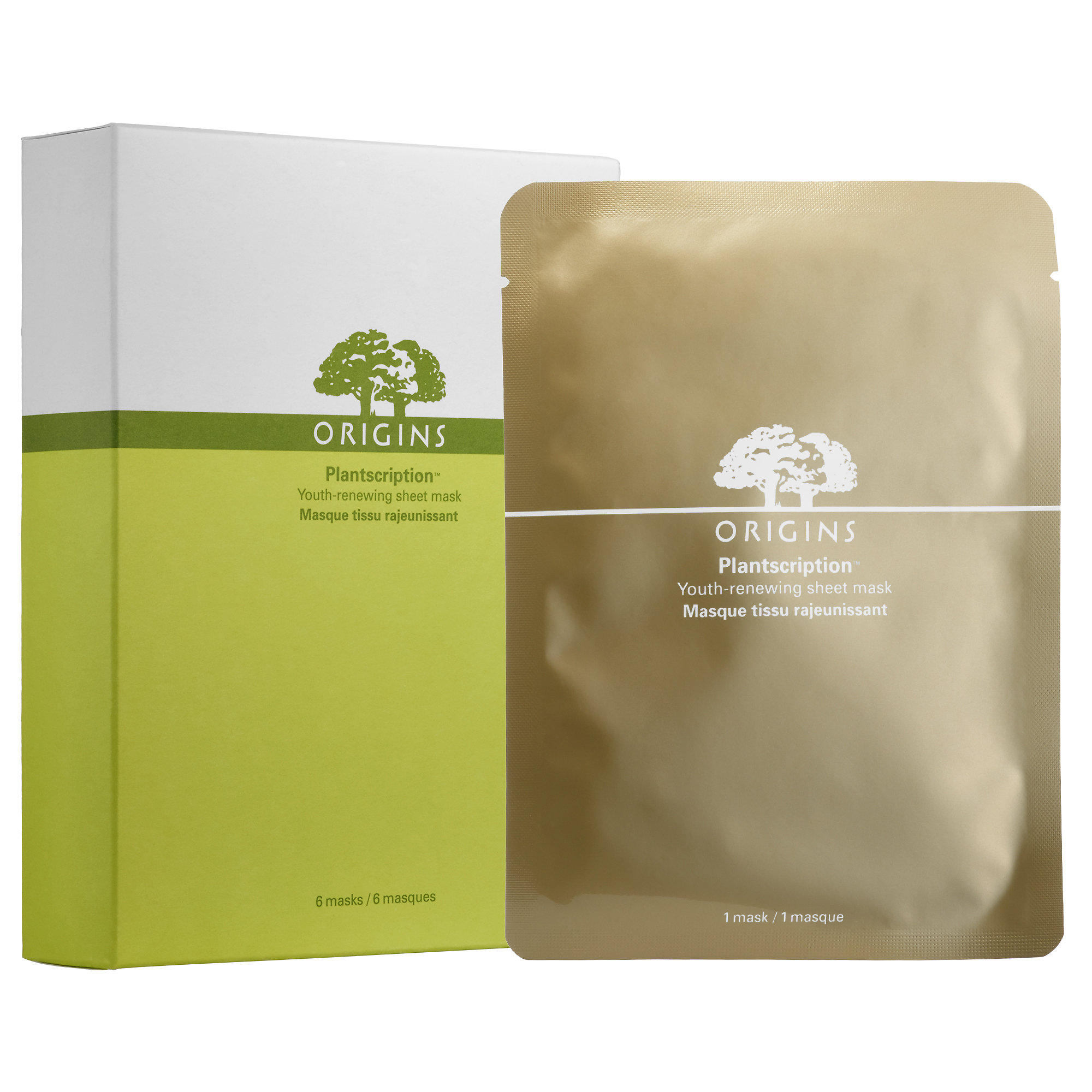 New Release Origins launched New PLANTSCRIPTION Youth-Renewing Sheet Mask