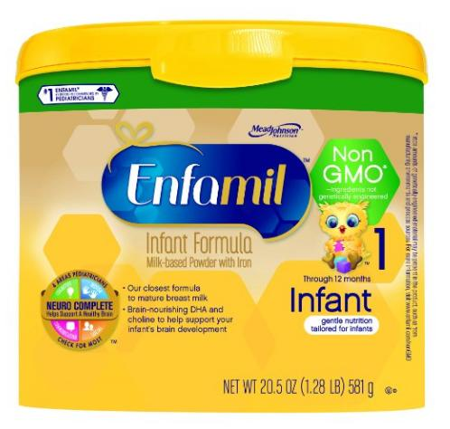 Enfamil Infant Non-GMO Baby Formula, 20.5 Oz. Tub (Pack of 4): Health & Personal Care