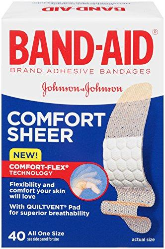 $1.13 Band-Aid Adhesive Bandages, Sheer, All One Size 40 sterile bandages
