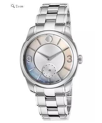 55% + Extra $40 Off Movados Women's LX Stainless Steel Silver-Tone and White MOP Dial @ WorldofWatches