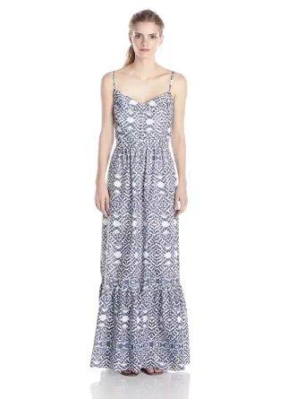 $14.74 Betsey Johnson Women's Printed Maxi Dress, Navy