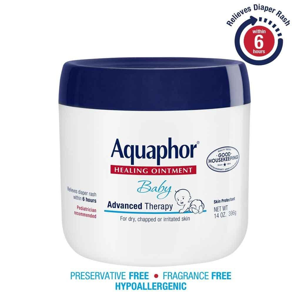 $12.15 Aquaphor Baby Healing Ointment, Diaper Rash and Dry Skin Protectant, 14 Ounce