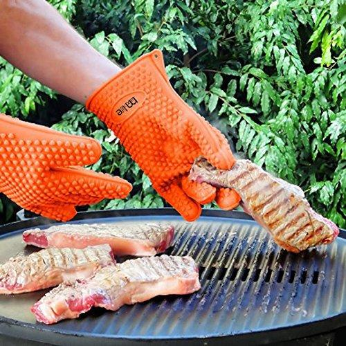 MaxyLife Supreme Silicone Heat-resistant Grilling BBQ Gloves for Barbecue