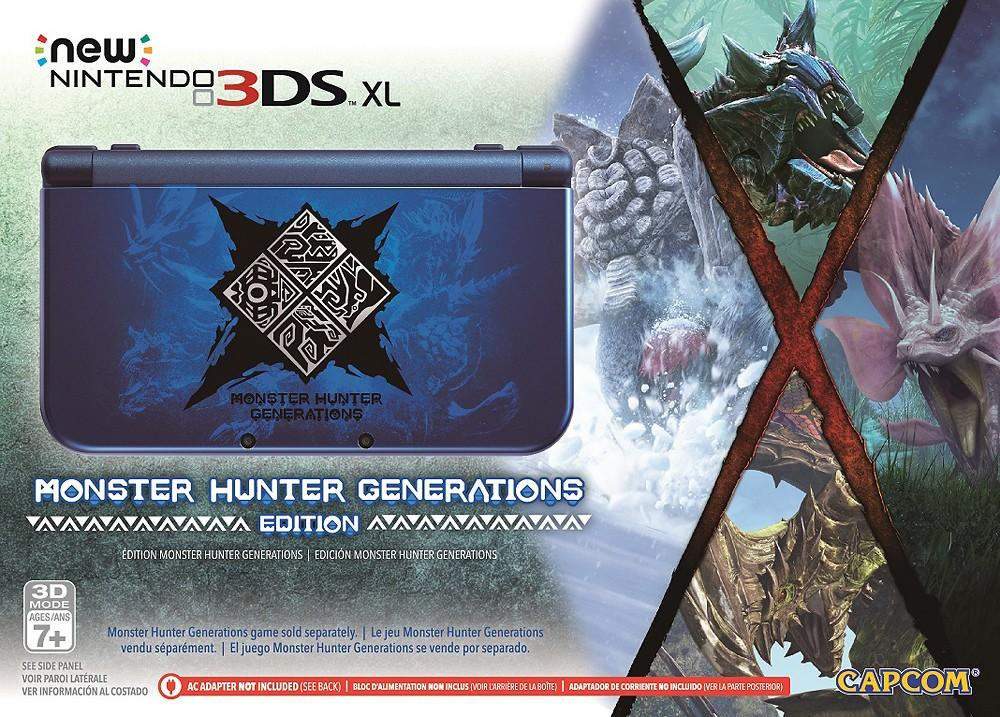 Pre-order $199.99 Nintendo New 3DS XL Monster Hunter Generations Edition - Blue