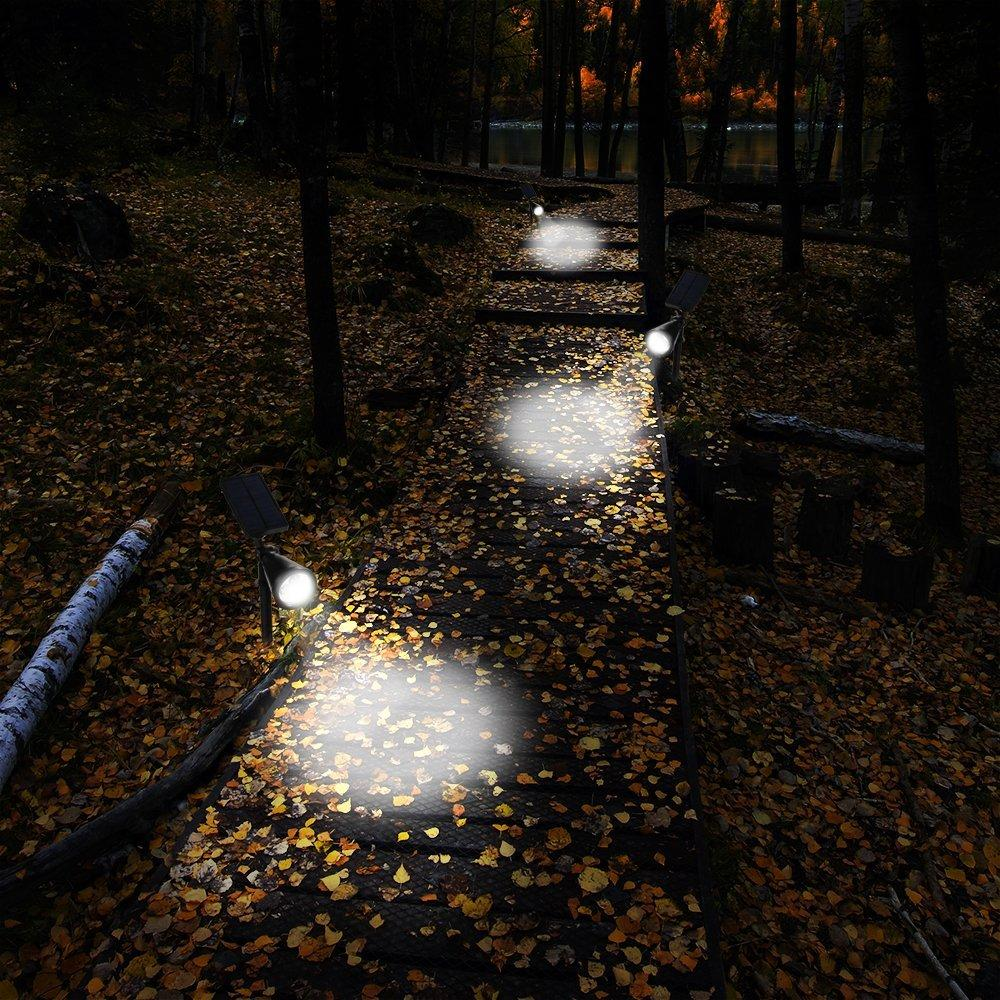 Hallomall  200 Lumens Solar Wall Lights / In-ground Lights, 4 Pack