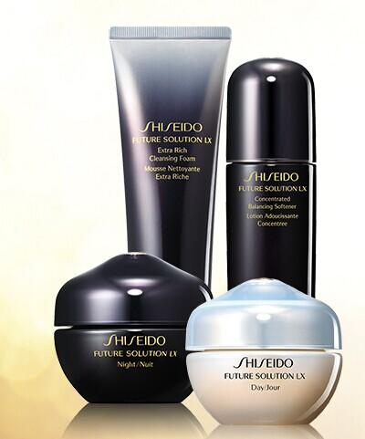 Receive a 3-pc Future Solution LX bonus + Free shipping with $150 Future Solution LX purchase @Shiseido