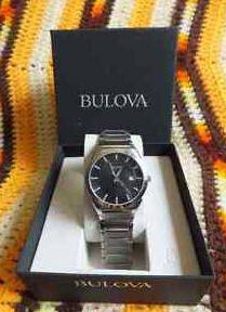 $44.99 Bulova Men's 96B149 Classic Stainless Steel Black Dial Dress Watch