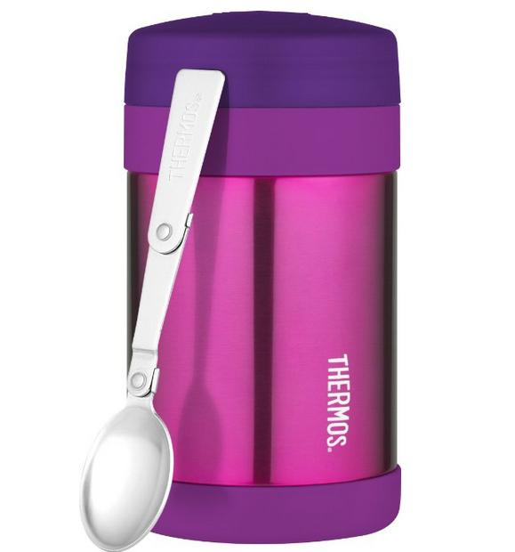 Thermos 16 Ounce Food Jar with Folding Spoon, Pink
