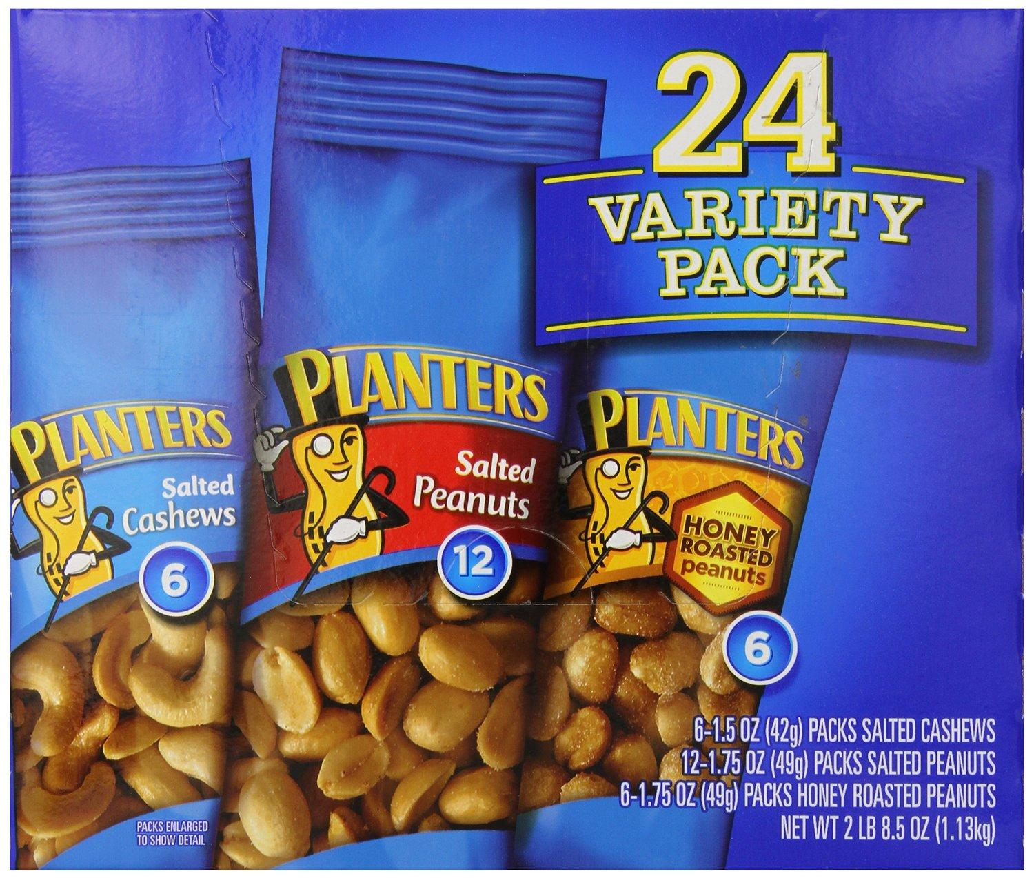 $9.48 Planters Nut 24 Count-Variety Pack, 2 Lb 8.5 Ounce