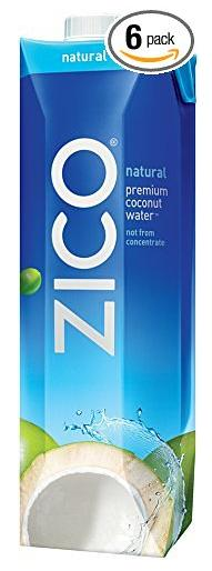 $13.92 ZICO Premium Coconut Water, Natural, 33.8 fl oz (Pack of 6)