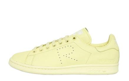 Up to 50% Off ADIDAS BY RAF SIMONS  STAN SMITH LEATHER SNEAKERS @ Luisaviaroma