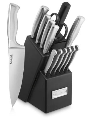 15-Piece Cuisinart Stainless Steel Hollow Handle Cutlery Block Set