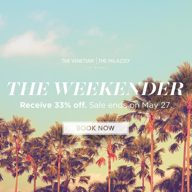 Receive 33% Off Rates The Weekender Sale @ The Venetian Las Vegas