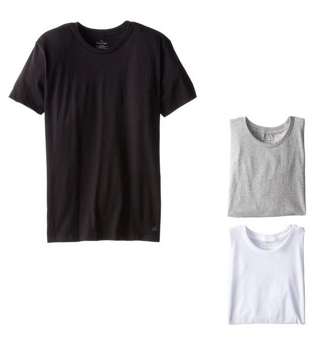 From $19.96 Calvin Klein Men's 3-Pack Cotton Classic Short-Sleeve Crew-Neck T-Shirt