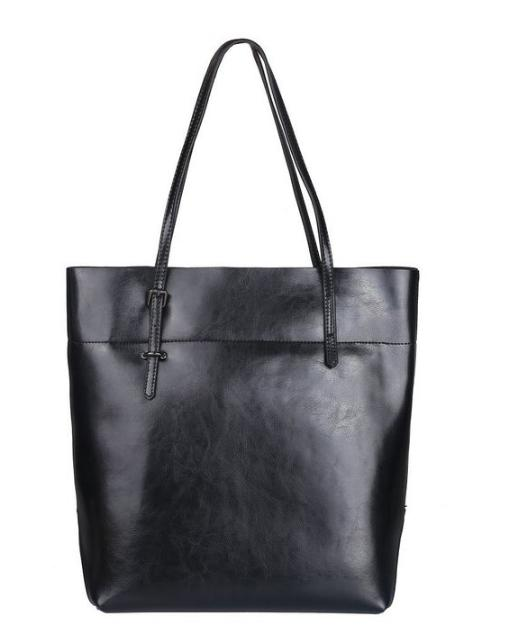 $59.19 Kattee Women's Cow Leather Simple Style Tote Shoulder Bag