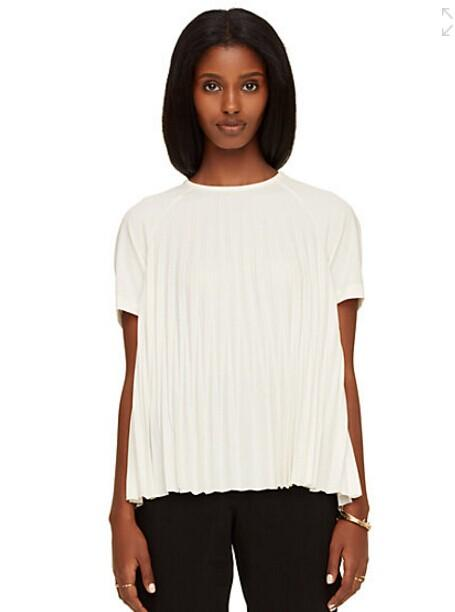 pleated crepe top @ kate spade