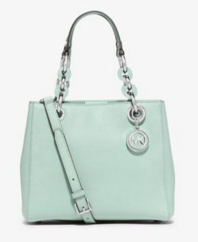 MICHAEL Michael Kors Cynthia Small Saffiano Leather Satchel, Celadon