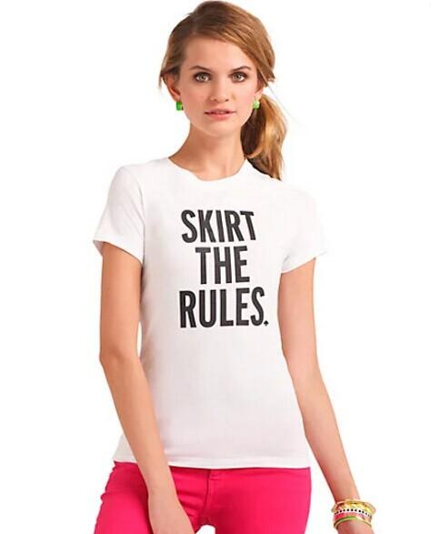 act three skirt the rules tee @ kate spade