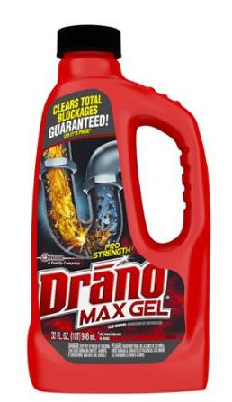 $4.07 Drano Drain Cleaner Professional Strength, 32 oz