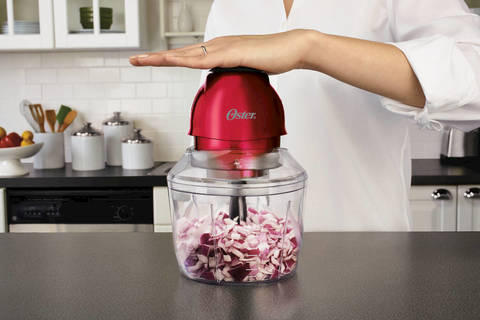 Oster Top Chop 4-Cup Chopper, Red
