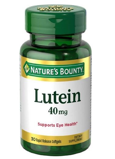 Nature's Bounty Lutein 40 Mg, 30 Softgels
