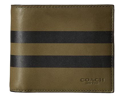 COACH Varsity Stripe Compact ID Wallet