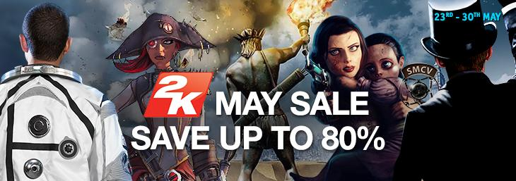 Up to 80% off 2K May Sale @ GamersGate