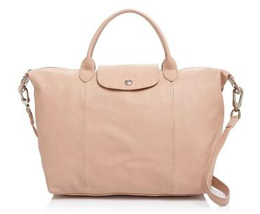 Longchamp Le Pliage Cuir Medium Satchel