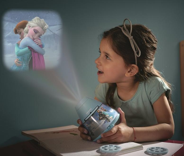 $12.99 Philips 717690848 Disney Frozen 2-in-1 Projector and Night Light, Purple