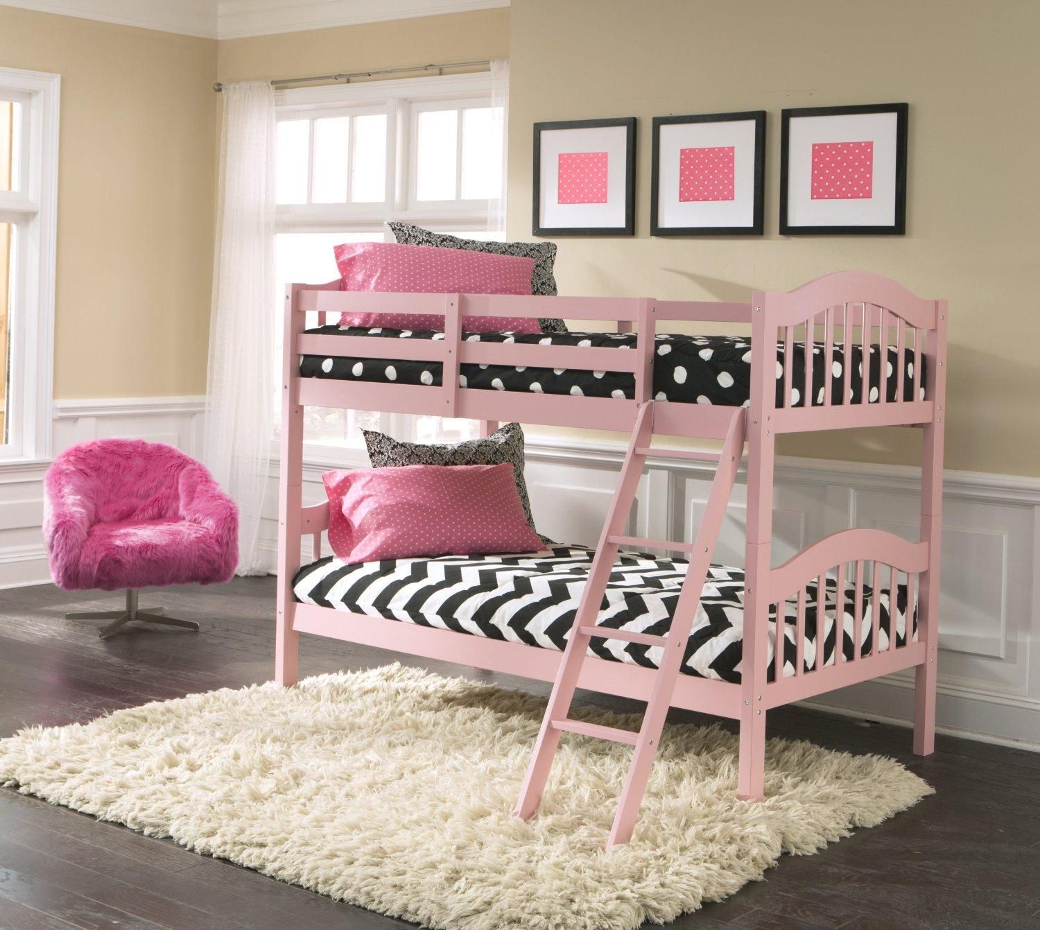 Stork Craft Long Horn Bunk Bed, Pink