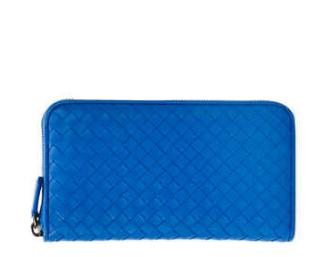 Bottega Veneta Continental Zip-Around Wallet, Cobalt @ Neiman Marcus