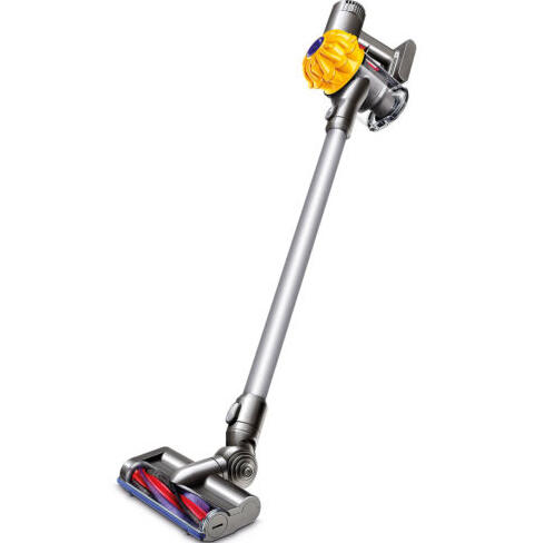 $159.99 Dyson V6 Cordless Stick Vacuum SV03 Yellow/Iron (Manufacturer refurbished)