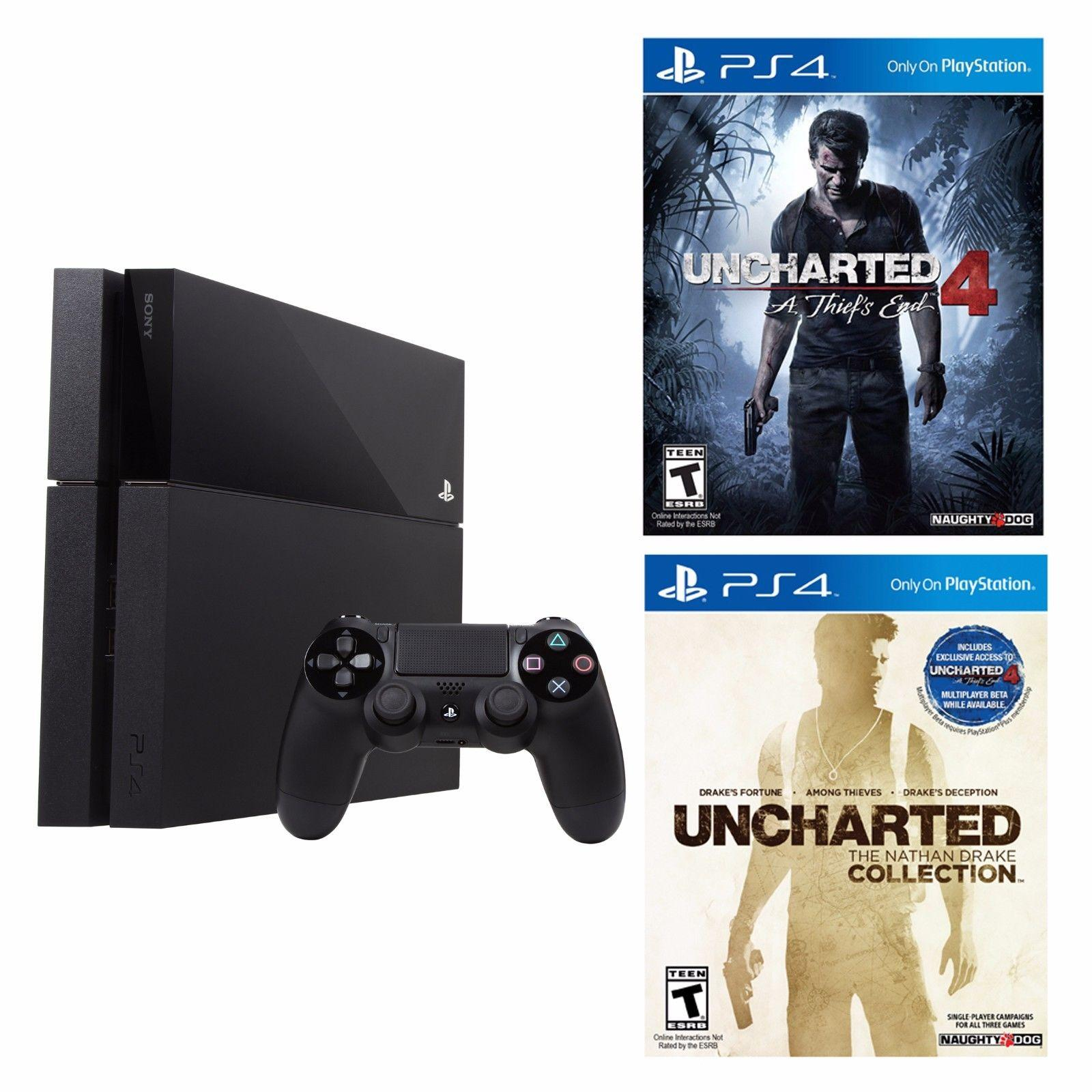 $359 PlayStation 4 Console + Uncharted 4 + Uncharted The Nathan Drake Collection