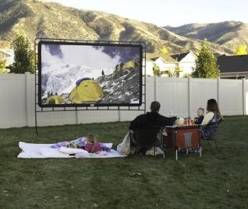 Camp Chef OS-144 Indoor/Outdoor Movie Screen, White