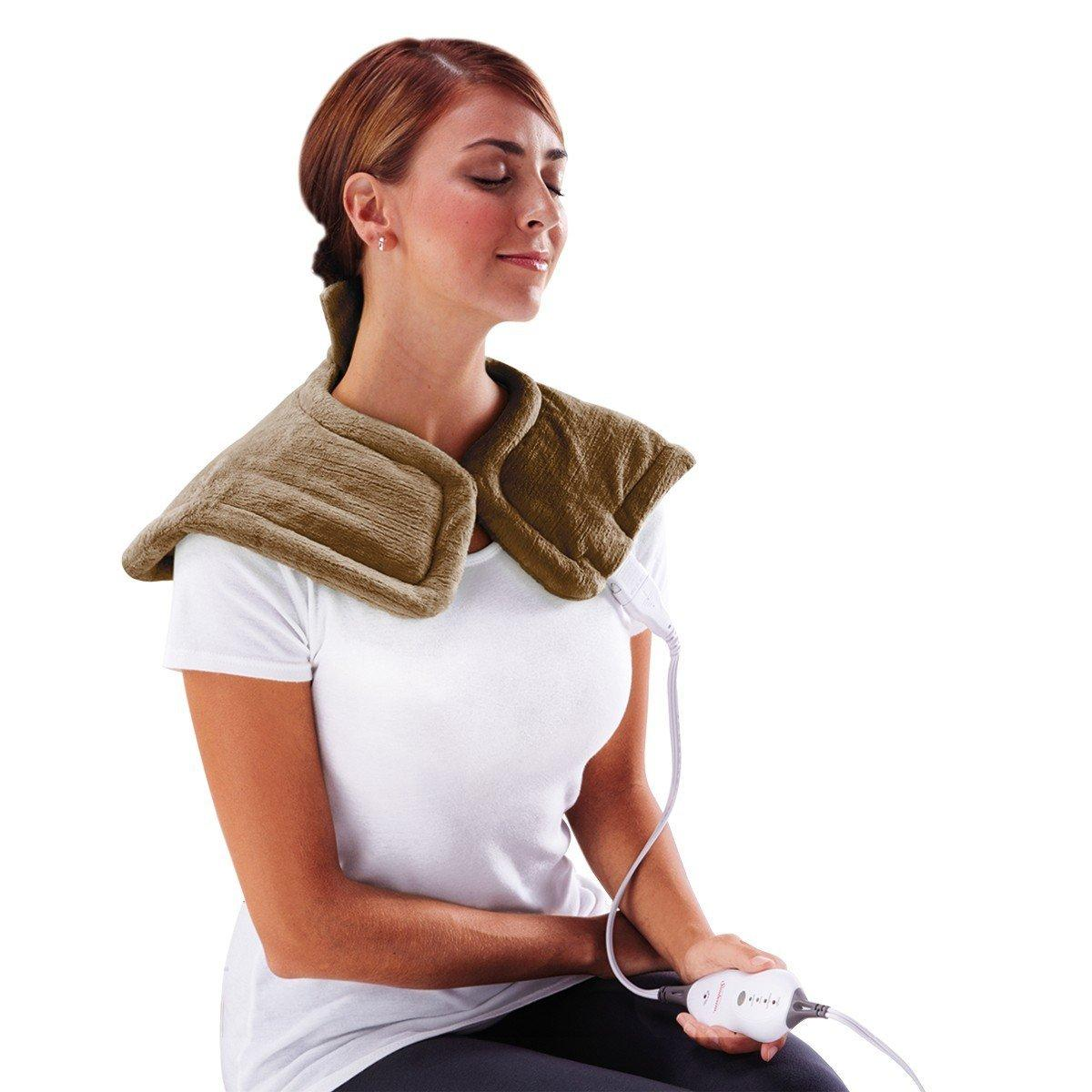 Sunbeam Renue Tension Relief Heating Pad, Brown