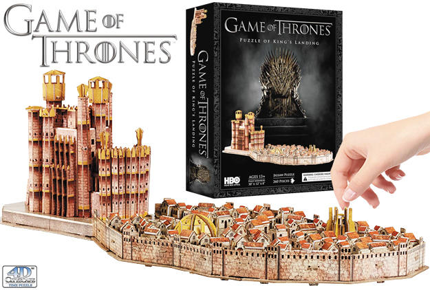 $29.48 4D Cityscape Game of Thrones: 3D Kings Landing Puzzle (260 Piece)
