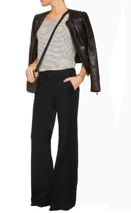 J BRAND Mona cotton-blend wide-leg pants