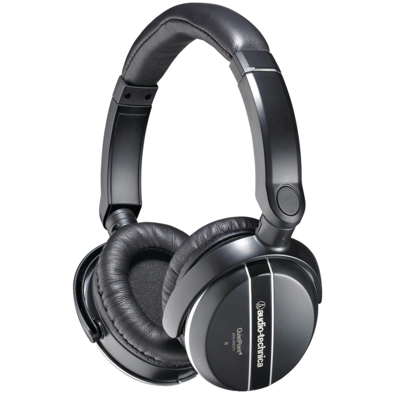 $45 AUDIO-TECHNICA QuietPoint® Active Noise-Cancelling Over-Ear Headphones (ATH-ANC29)
