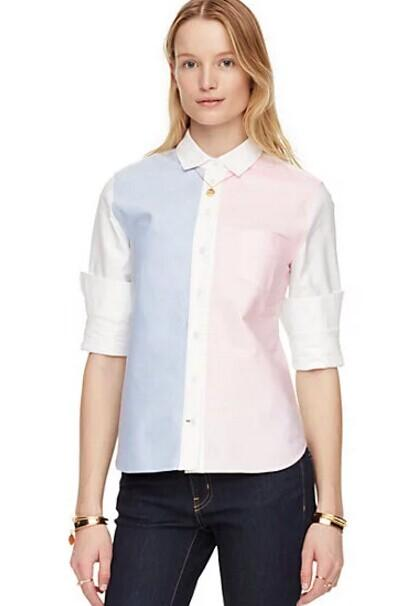 colorblock button down shirt @ kate spade