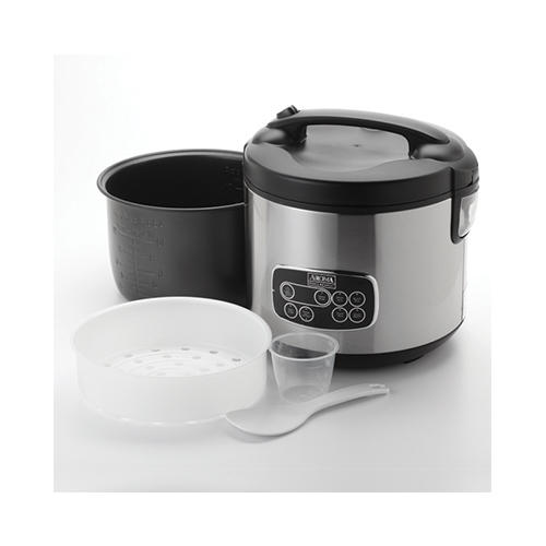 $26.39 AROMA 20-Cup Digital Display Rice Cooker, Slow Cooker and Food Steamer (5 Year Warranty)