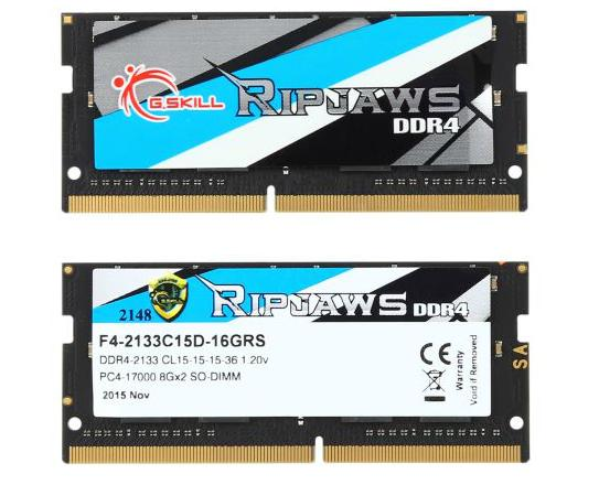 $49.99(原价$56.99) G.SKILL Ripjaws 16GB (2 x 8G) DDR4 笔记本内存