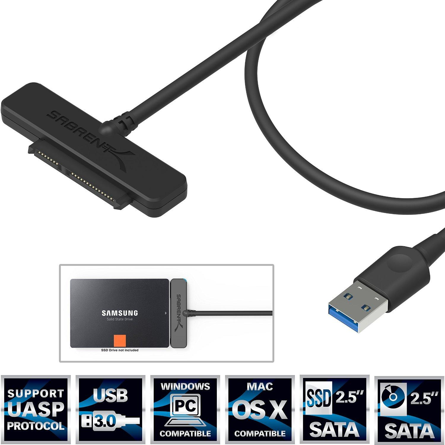 """As low as $5.99 Sabrent USB to 2.5"""" SATAIII SSD/HDD Adapter"""