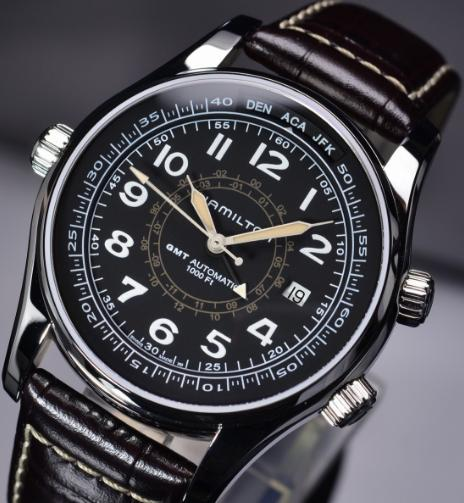 $488 HAMILTON MEN'S KHAKI NAVY UTC AUTO WATCH